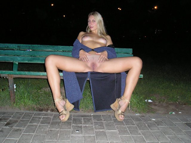 Public in wives tits