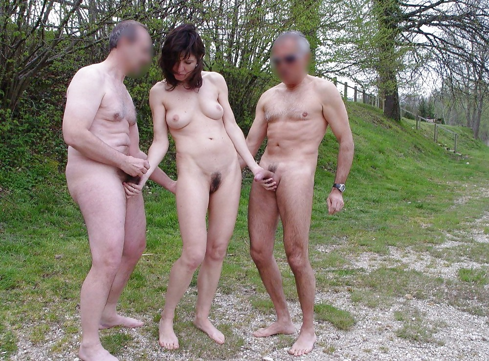 Wife dogging with husband friends outdoor - Wife share ...