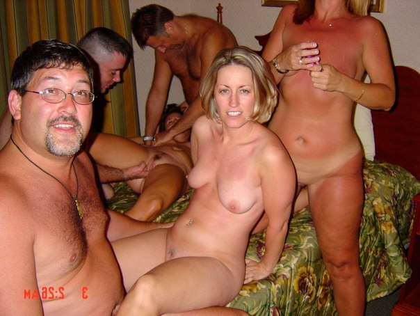 With Mature amateur swinger gangbang