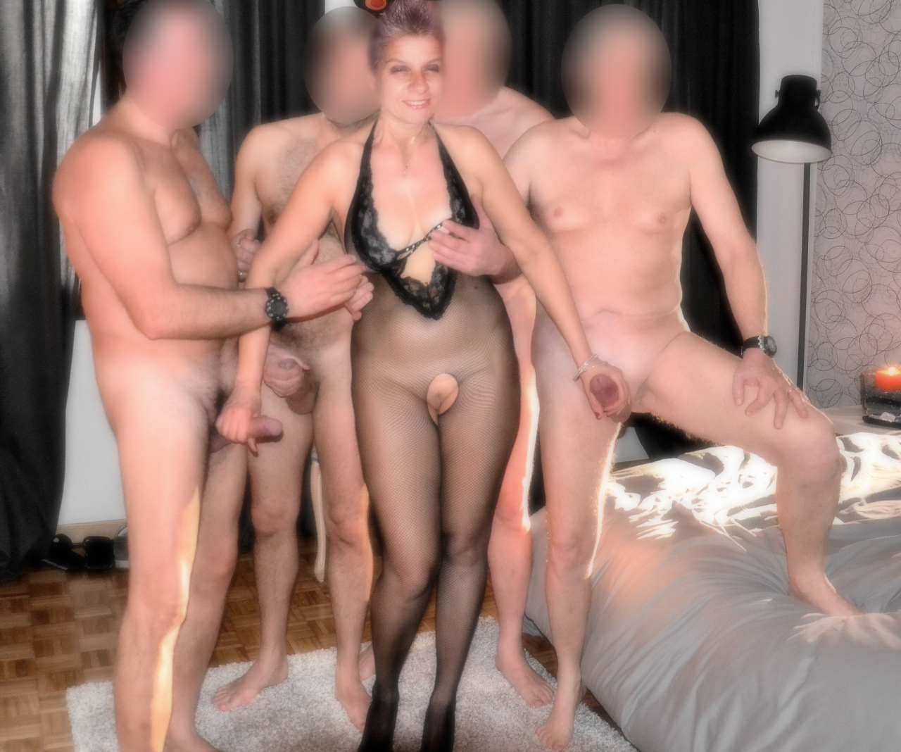Hot wife gangbang party