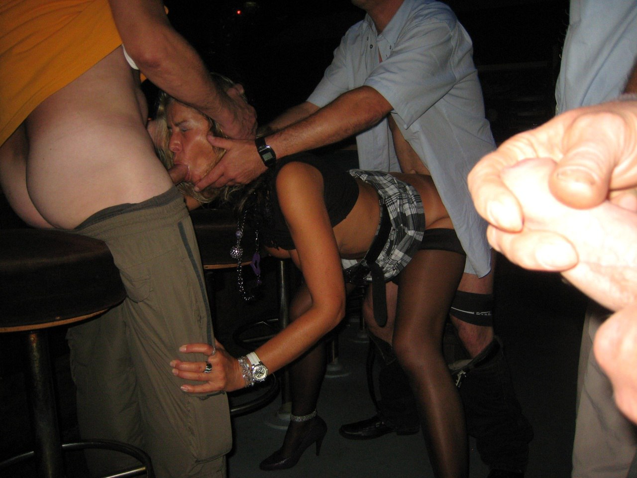 Cuckold wife at bar